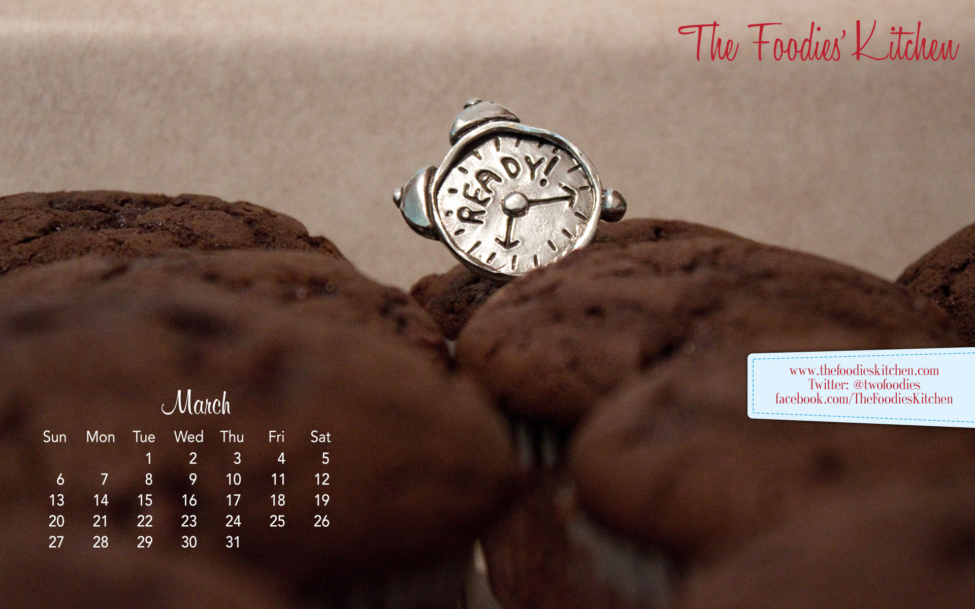 Foodies Freebie: March 2011 Desktop Calendar