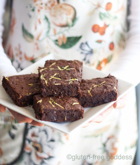 Gluten-Free Chocolate Chip Zucchini Brownies by Gluten-Free Goddess