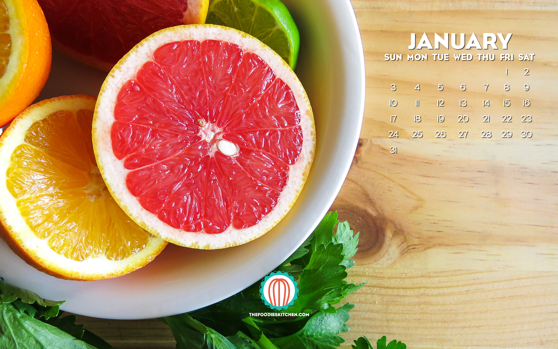 Foodies Freebie January 2016 Wallpaper Collection The