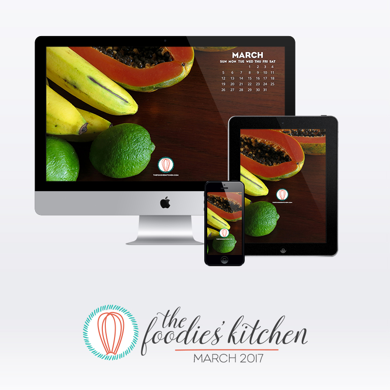 Foodies Freebie March 2017 Wallpaper Collection