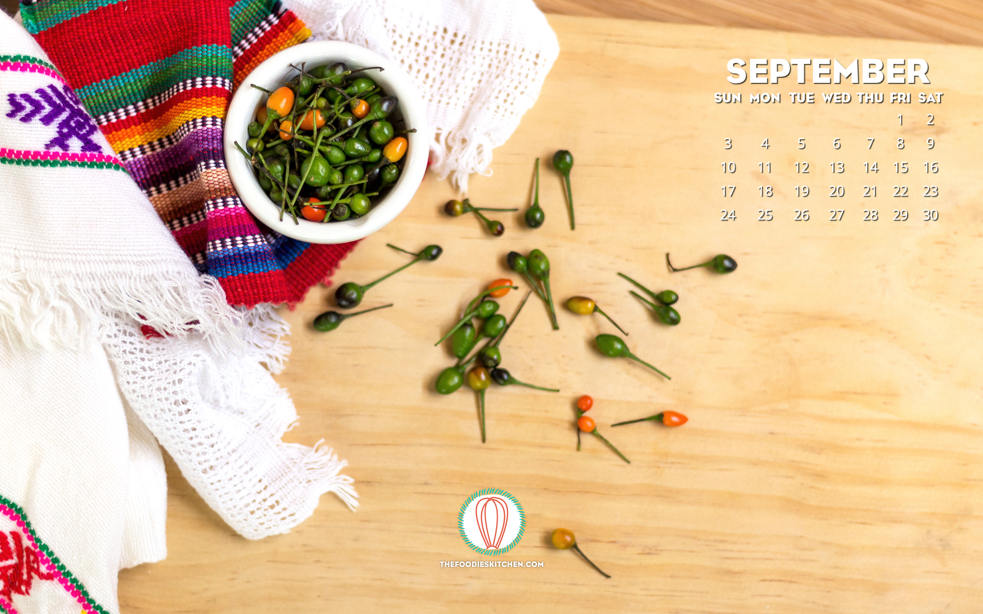 Foodies Freebie September 2017 Wallpaper Collection The