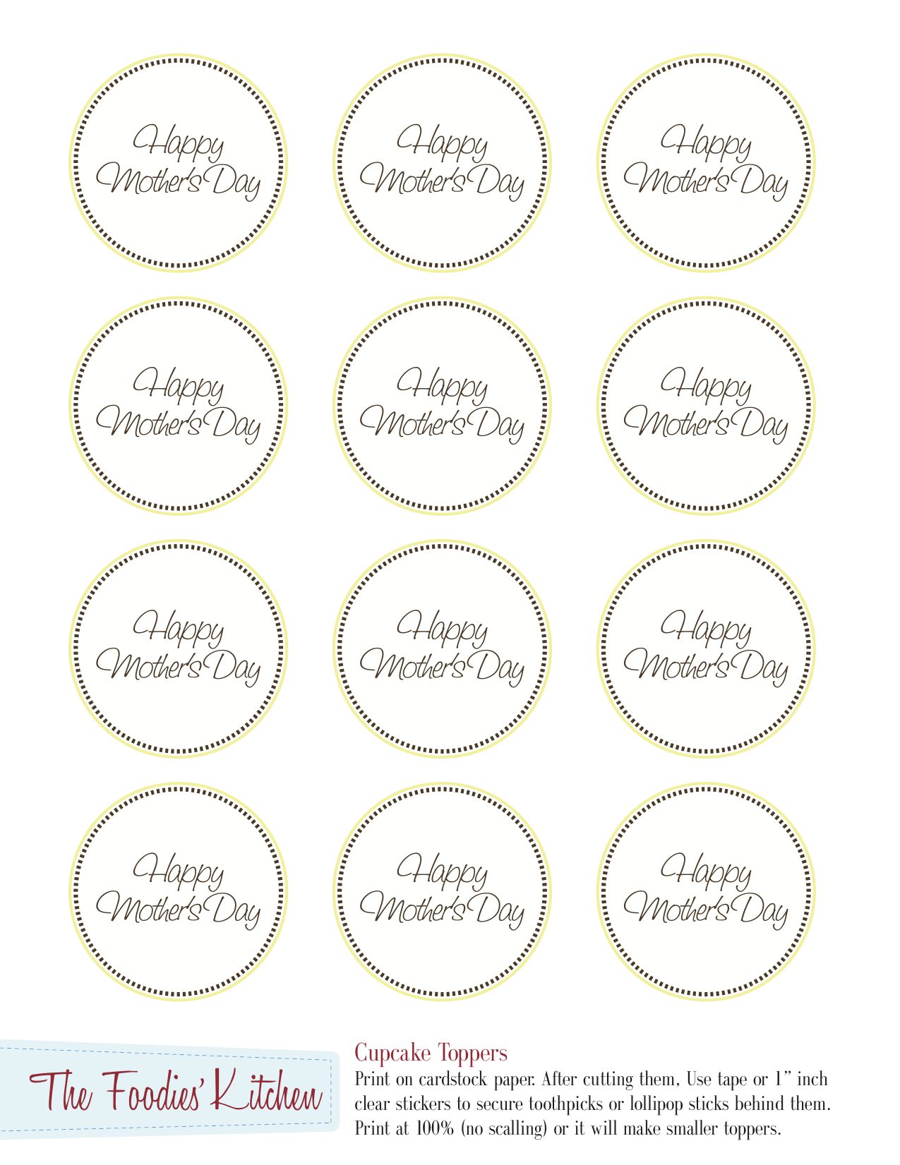 Mothers Day Toppers
