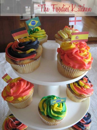 World Cup Cupcakes